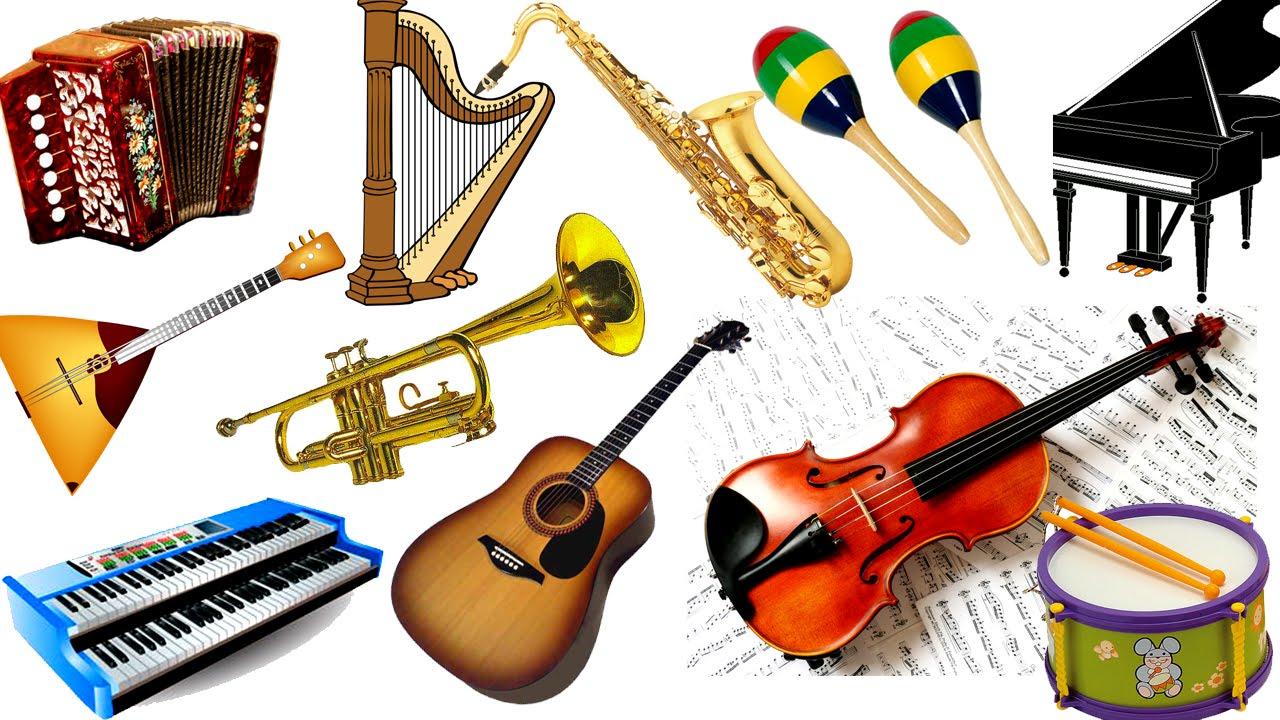 , картинки с изображением музыкальных инструментов для детского сада